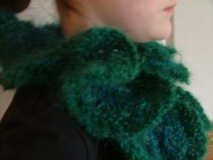 Sea Green and Blue Ruffles