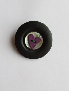 Purple Heart Button Brooch